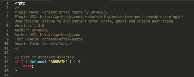 Abb. 1.5.b: File Header einer Plugin-Datei